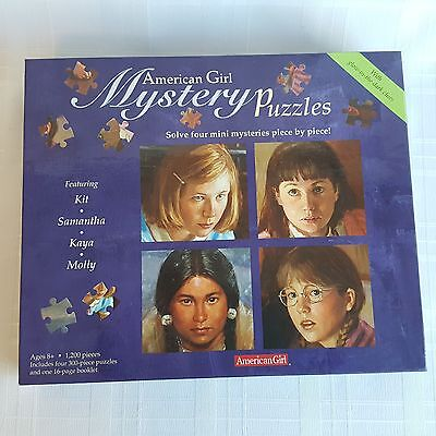 American Girl Mystery Puzzles 4 Mini Mysteries Glow In The Dark Clues 300 PC New](Clue Puzzles)