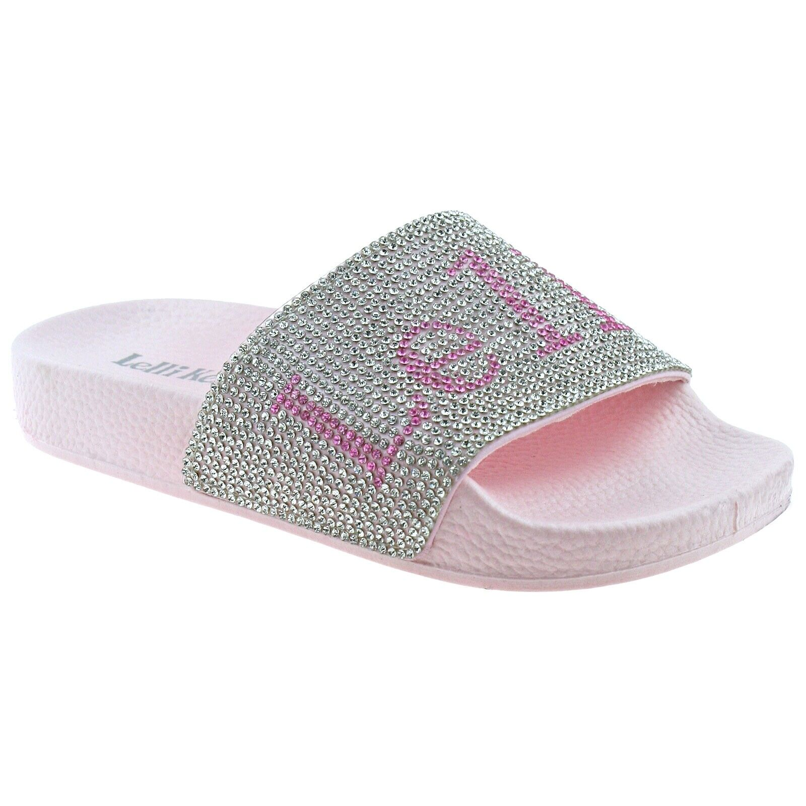 Lelli Kelly MARINA Pink Glitter Slider LK9902 Sizes 28-35