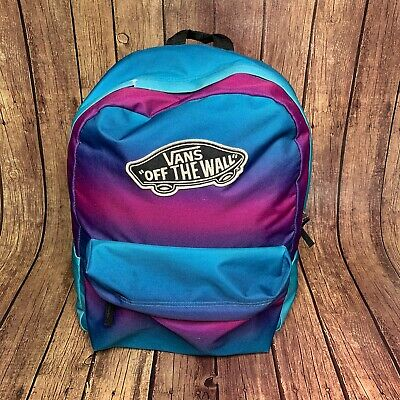 Vans OFF THE WALL Backpack Stake Blue Pink Purple Authentic Skateboarding