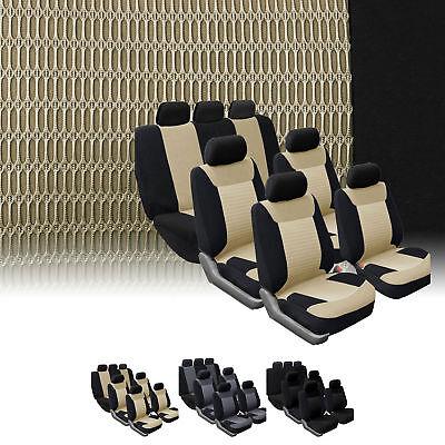 3 Row Car Seat Covers Luxury For Van Minivan Truck