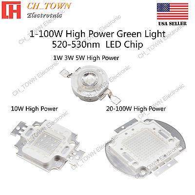 1w 3w 5w 10w 20w 30w 50w 100w Green 520-530nm High Power Smd Led Chip Cob Lamp