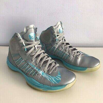 7a88273787c15 NIKE Hyperdunk Basketball Shoes  524934-008 - Mens 9.5 - Blue Silver Gray  FLAW