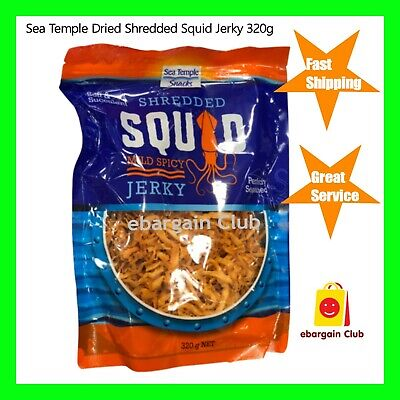 Sea Temple Dried Shredded Squid Jerky Mild Spicy 320g Snack ebargainClub