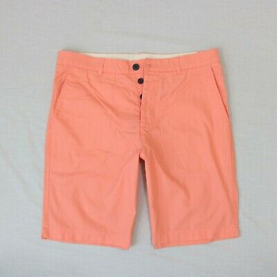 H&M Men Button Fly Orange Classic fit shorts size 32 ,36 new with tag