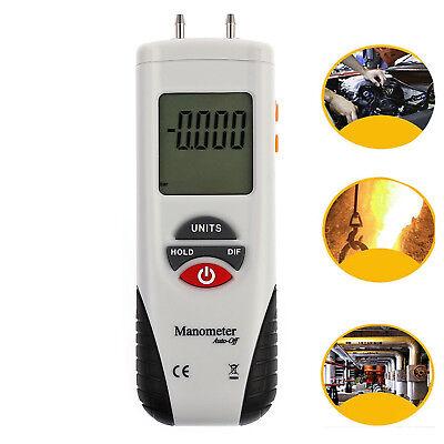 Led Pressure Gauge Hvac Gas Pressure Tester Manometer Digital Air Pressure Meter