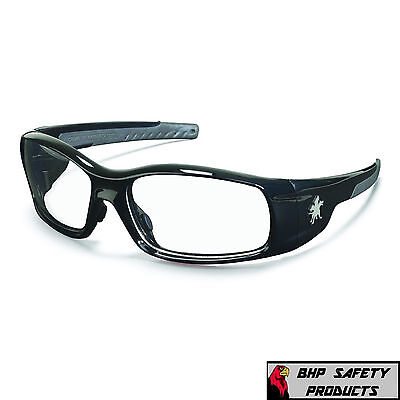 36df13b70b SAFETY GLASSES MCR CREWS SWAGGER SR110 BLACK FRAME CLEAR LENS WORK SPORT  EYEWEAR