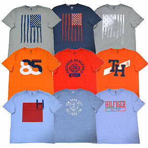 tommy hilfiger t shirt mens classic fit graphic tee crew. Black Bedroom Furniture Sets. Home Design Ideas