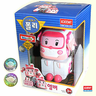 ROBOCAR POLI : AMBER Transforming Toy Robot Series ACADEMY / Korean Animation