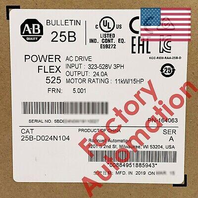 20182019 Us Stock Allen-bradley Powerflex 525 11kw 15hp Ac Drive 25b-d024n104