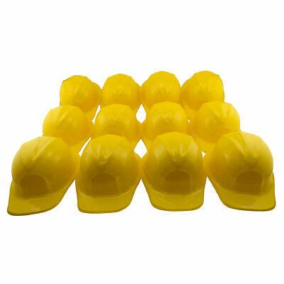 Dress Up Yellow Plastic Construction Hard Hat Play Pretend Kids Costume BULK - Kids Play Hard Hat
