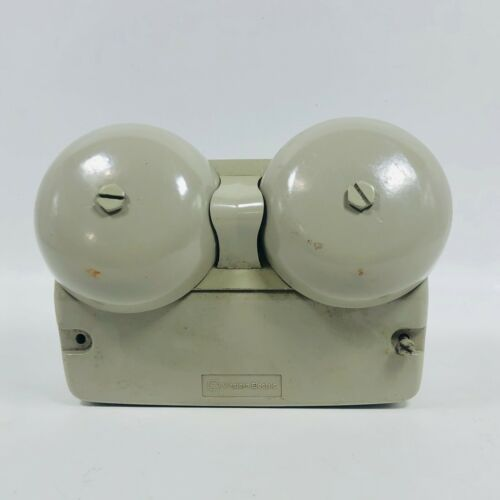 AT&T WESTERN ELECTRIC BELL SYSTEM AUXILIARY TELEPHONE DUAL BELL RINGER