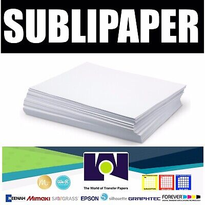 Sublipaper Transfer Paper Dye Sublimation 100 Sheets 8.5x11