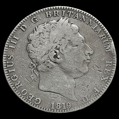 1819 George III Milled Silver LIX Crown
