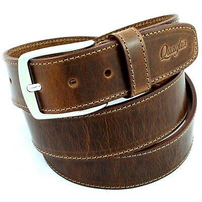 Cintura Uomo Vintage vera Pelle Marrone Cinta Donna in Cuoio Casual di da 4 cm w