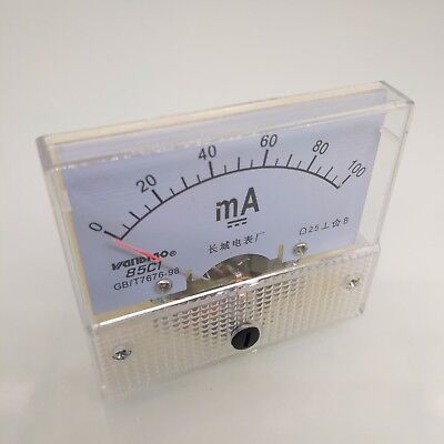 Us Stock Analog Panel Amp Current Ammeter Meter Gauge 85c1 0-100ma Dc