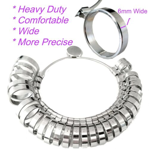 6mm WIDE Band Ring Size US 1-15  29pc Wedding Band Finger Ring HEAVY DELUX