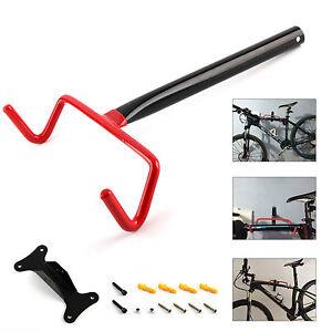 Garage Wall Mounted Bike Bicycle Cycle Storage Rack Hook Holder & Screws UK