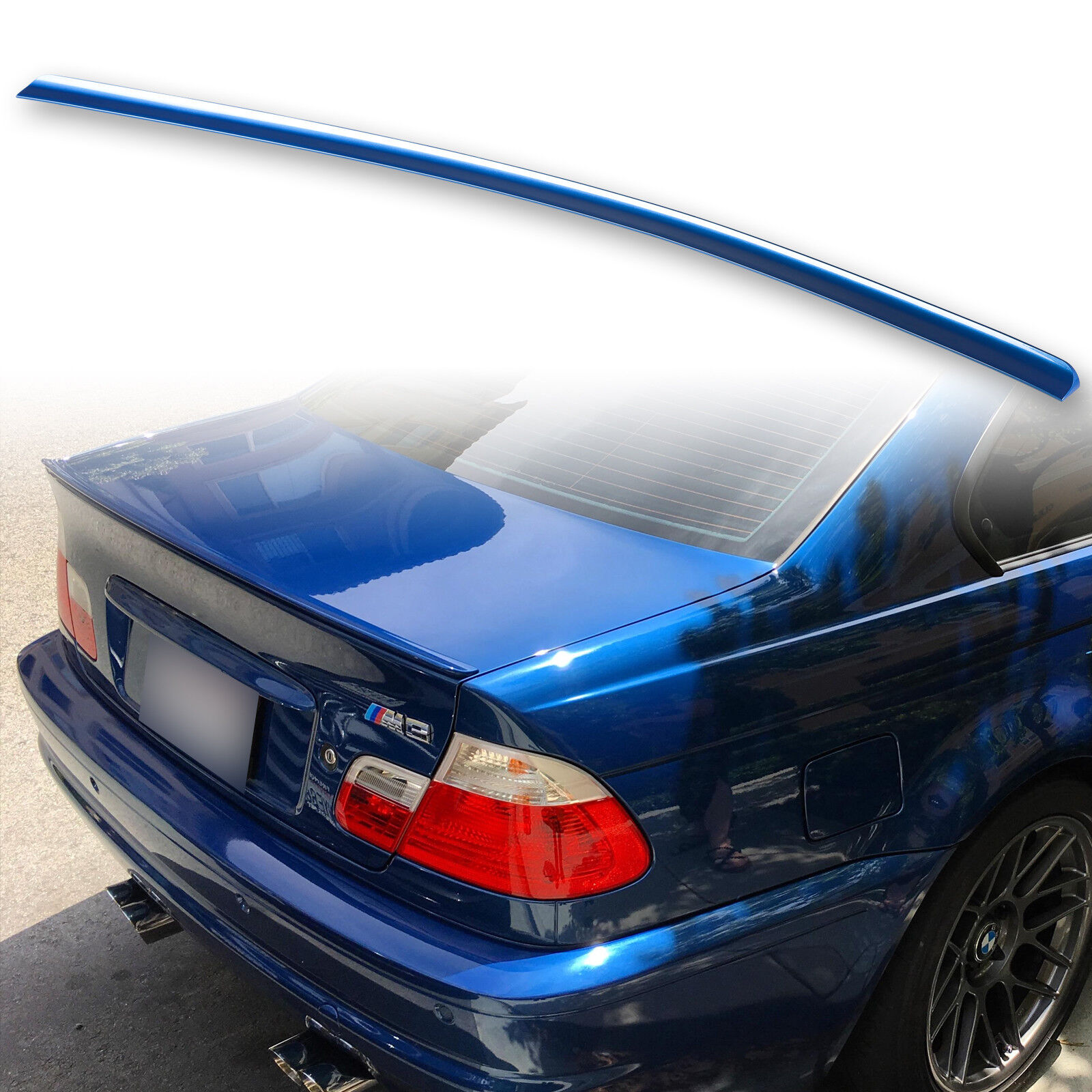 For Bmw Tuning E46 Painted Spoiler Lip M3 Sport Rear Wing Tailgate Boot Car Tuning Styling Vehicle Parts Accessories