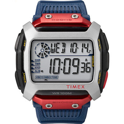 Timex Command™ X Red Bull® Cliff Diving 54mm Resin Strap Watch |Blue| TW5M20800