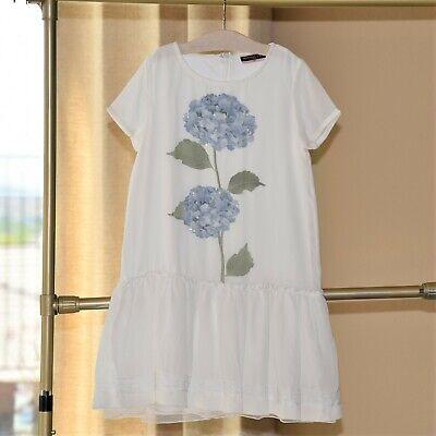 Monnalisa Girls Hydrangea Dress Size 10 12 EUC