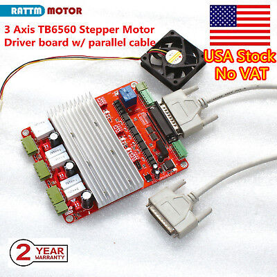 【US free ship】3axis nema23 stepper motor 270oz.in 4leads 3A TB6560 boardCNC MILL