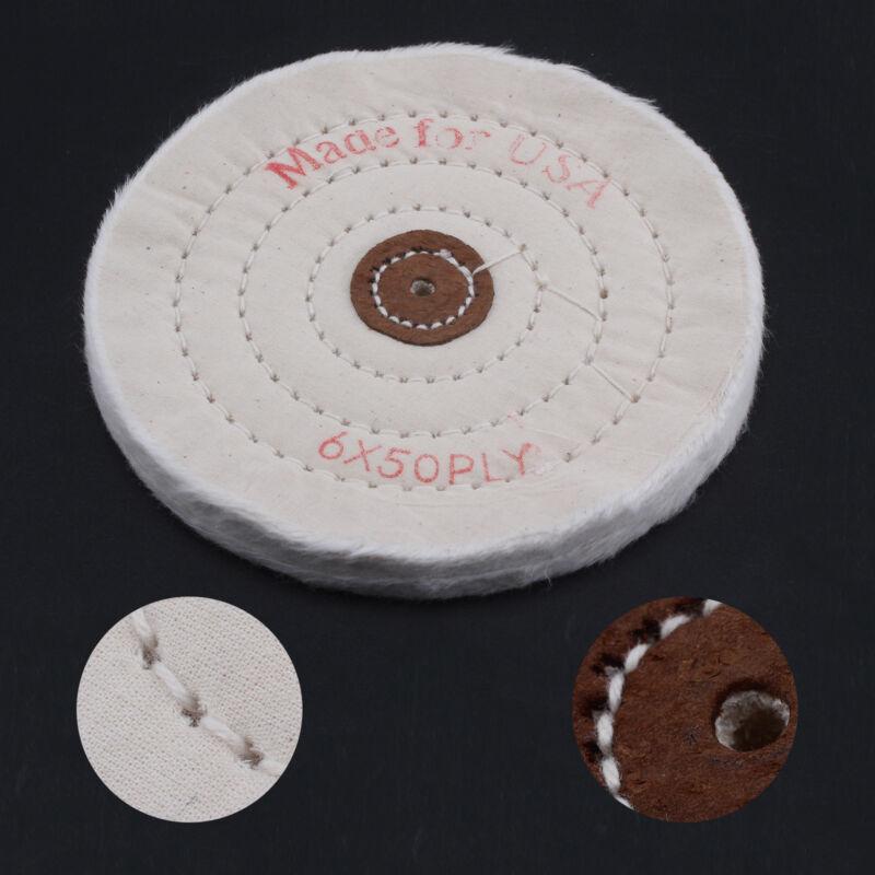 "6/"" Cotton Polishing Wheel for Bench Grinder Buffing Wheel for Buffer Polisher"