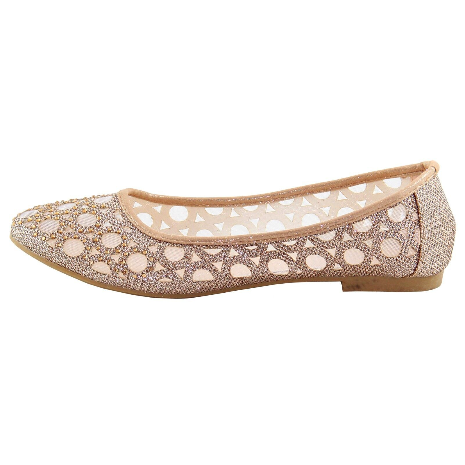 New women's shoes blink ballet flats mesh finish casual summer beige champagne 1
