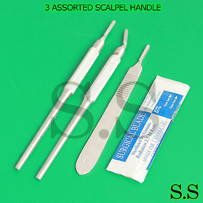 3 Assorted Scalpel Handle 3 10 Sterile Surgical Scalpel Blades 15