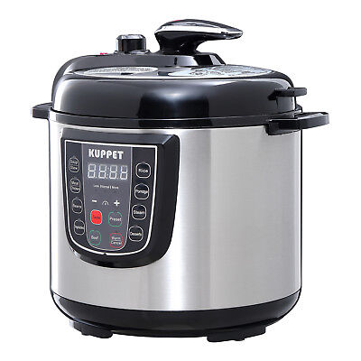 6L Electric Pressure Cooker 9 Function Stainless Steel Rice Pot Digital Cooker