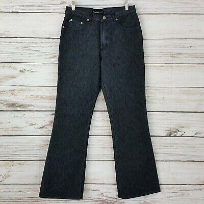 Polyester Flared Jeans Cut Pants (Express Juniors Jeans Sz 9/10 Dark Gray Flare Cut 5 Pockets Pants      )