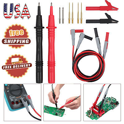 12 In 1 Set Multimeter Test Lead Kit Probe Alligator Clips For Fluke Meter Power