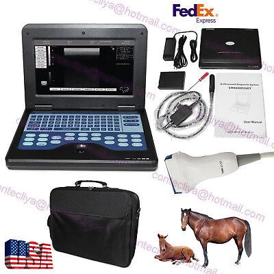 Vet Veterinary Portable Ultrasound Scanner Machine Animal Rectallinear 2 Probes