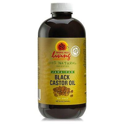 Tropic Isle Living Jamaican Black Castor Oil 8 oz Glass Bottle