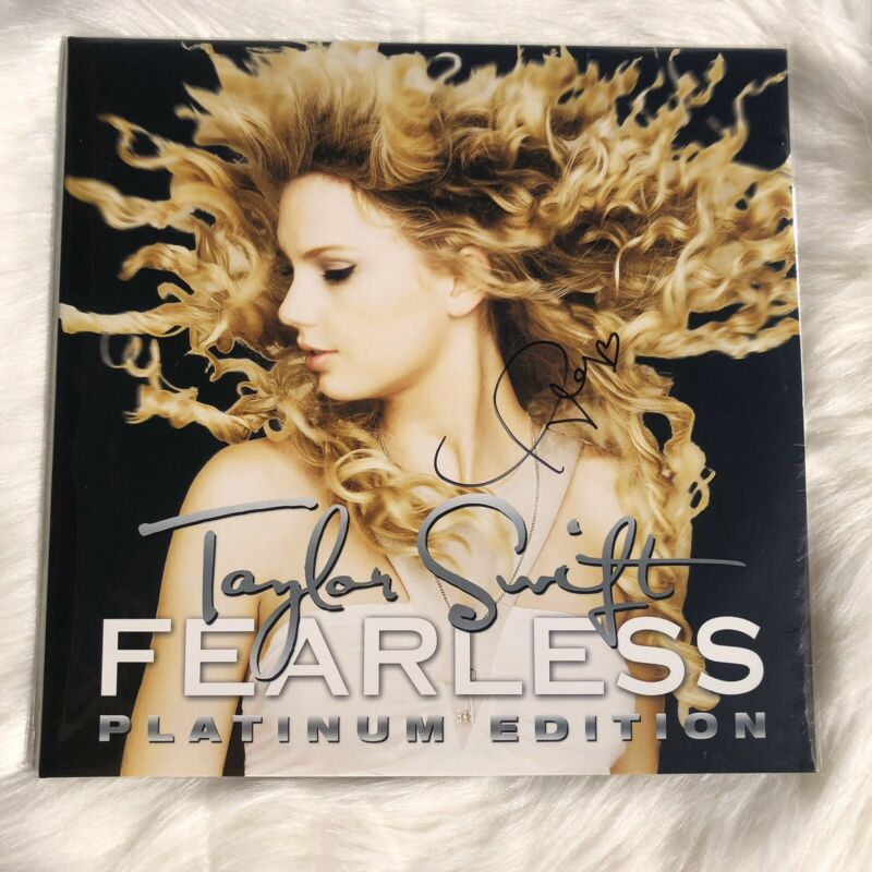 Taylor Swift Signed Fearless Vinyl RSD  Authentic Autograph