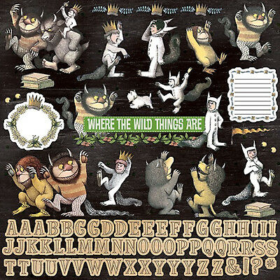 Paper House WHERE THE WILD THINGS ARE 12x12 Cardstock Sticker Sheet MAX & PALS