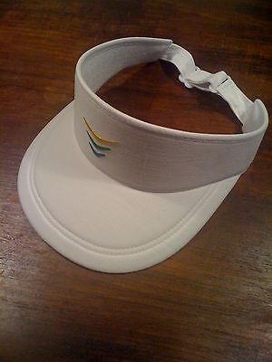 Golf Visor Für Damen (Visor Sonnenschutz für Damen oder Herren unisex,  weiß , verstellbar, leicht)