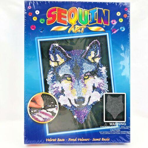 Sequin Art Kit Wolf Head Velvet Base No. 1215 New & Sealed Made in Britain