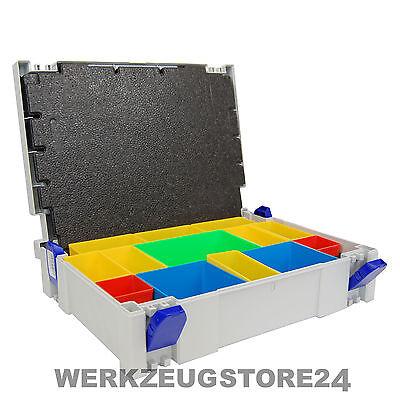 Tanos Classic Systainer Gr.1 lichtgrau + Boxeneinsatz + Deckeleinlage SYS 1 BOX