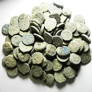 ZURQIEH - HOARD OF PTOLEMAIC BRONZE COINS , AS FOUND , 787 PCS