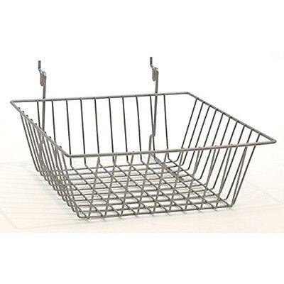 Only Hangers 12 X 12 X 4 Basket For Gridwallslatwallpegboard - Chrome 3pk