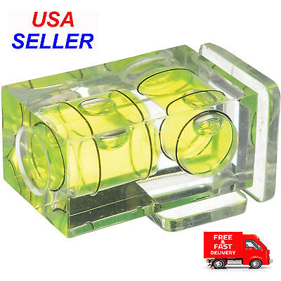 Digital Cameras Hot Shoe - Hot Shoe Two Axis Double Bubble Spirit Level Mount For Digital and Film Cameras