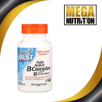 Doctors Best Fully Active Vitamin B Complex 30 Veggie Caps | Energy &