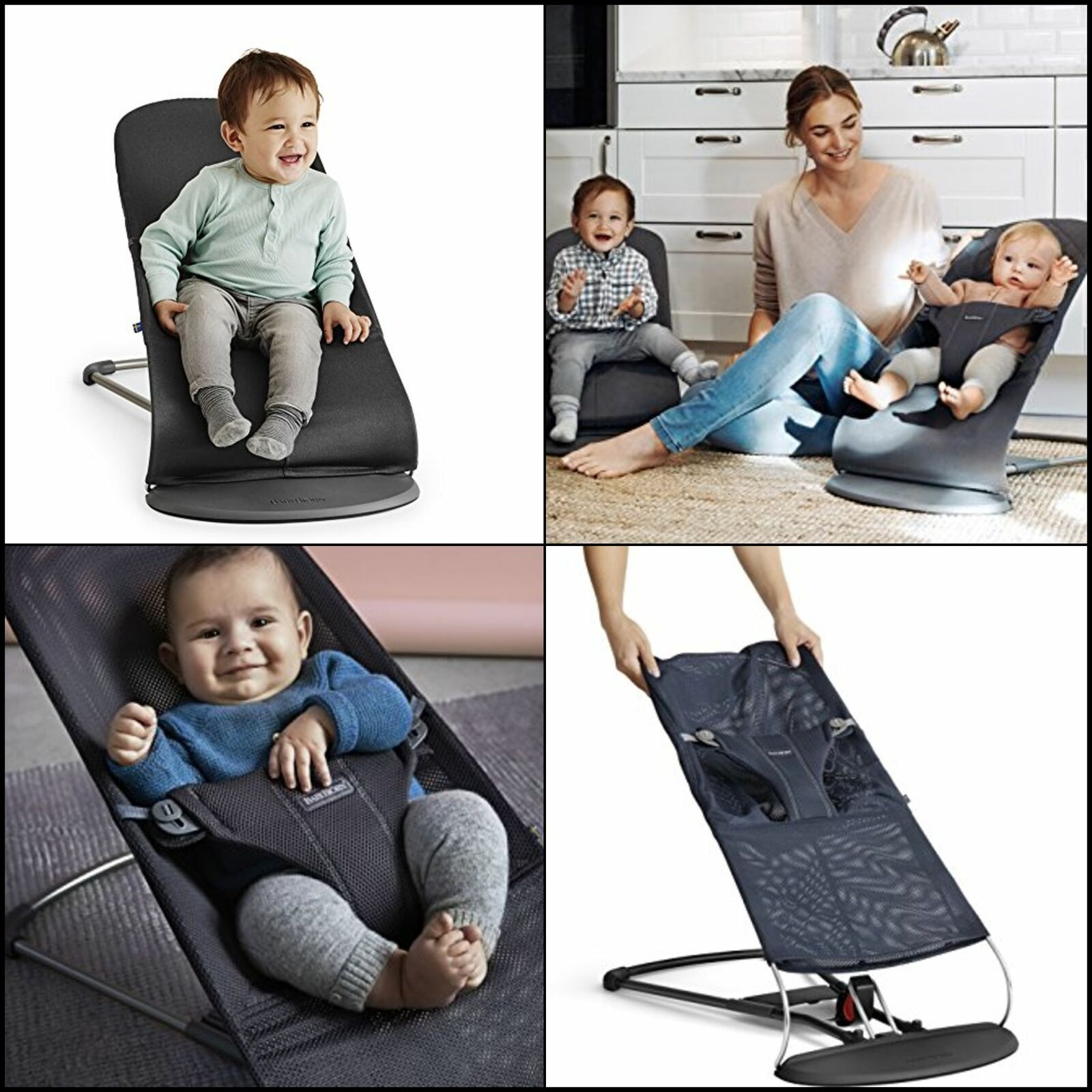 BABYBJORN BabyBjorn Fabric Seat for Bouncer - Anthracite, Me
