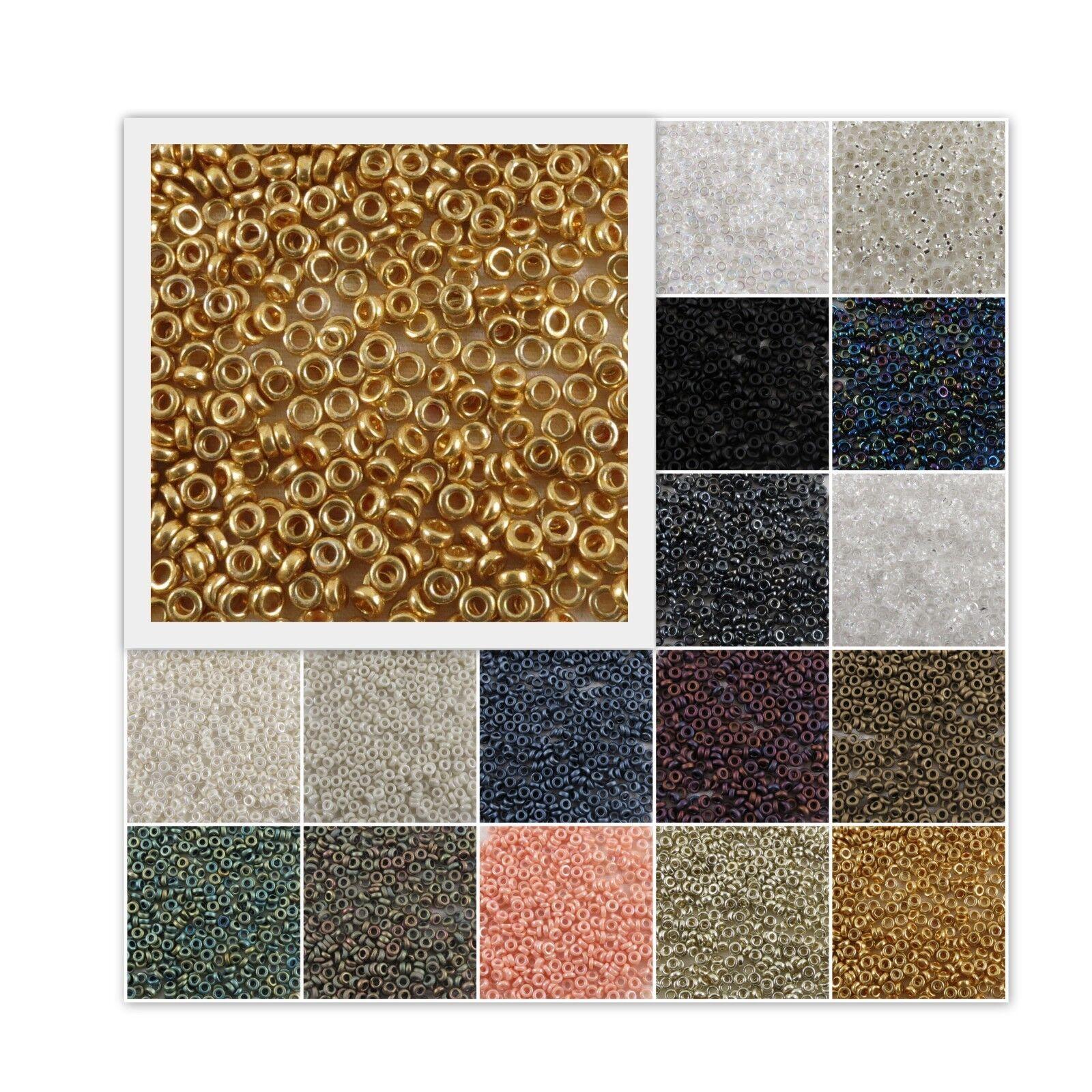 Miyuki SPACER Seed O Beads 2.2x1 mm O-Beads Flat Ring 7 gr