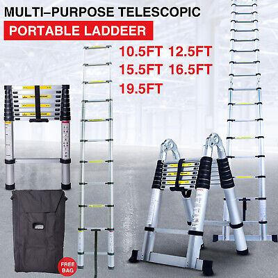 Telescoping Extension Ladder Aluminum Folding Portable All Purpose Variable Step