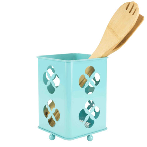 Home Basics Trinity Collection Turquoise Cutlery Holder Home & Garden