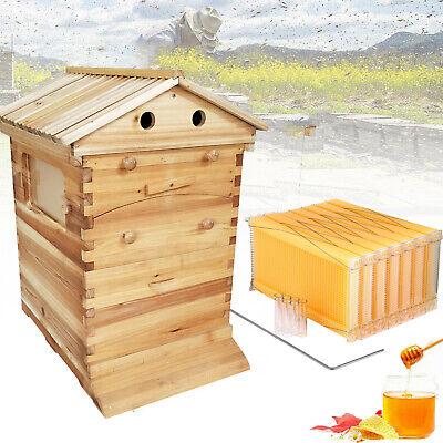 7pcs Auto Bee Hives Honey Beekeeping Box Beehive Comb Bee Hive Framesbee House