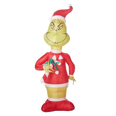Big Inflatable Suit (GEMMY INDUSTRIES GRINCH SANTA SUIT 5.5' CHRISTMAS INFLATABLE AIRBLOWN BIG)