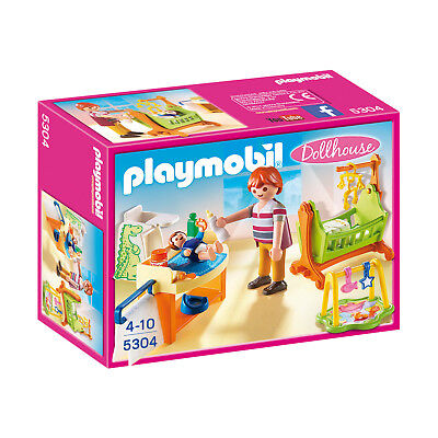 Playmobil Dollhouse Baby Room With Cradle Building Set 5304 NEW Toys Kids