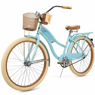 Bike For Women Cruiser Beach Bycicle Vintage Basket 26 inch Blue Ladies Huffy  for sale  Shipping to Canada